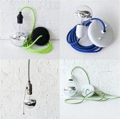 colour fabric light cords