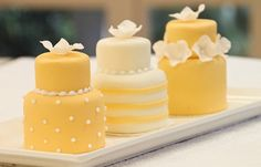 Good things come in small packages! Love these #sunny mini cakes. For more ideas, go to brides.prestonbailey.com. Globally-celebrated for his unique ability to transform ordinary spaces into lush, theatrical environments, #PrestonBailey is the premier designer for events. Visit Preston at: www.prestonbailey.com Tweet Preston at: @Preston Bailey Friend Preston on Facebook at: Preston Bailey.