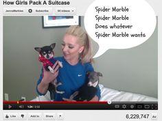 jenna marbles + dog I do this to poor Chloe!