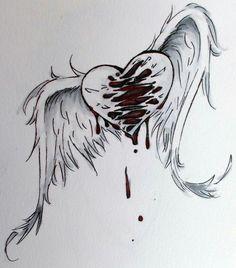 Super dark love art sad drawings 42 Ideas - New Pin Sad Drawings, Drawing Sketches, Pencil Drawings, Heartbroken Drawings, Broken Heart Drawings, Broken Heart Art, Broken Heart Tattoo, Sad Angel, Angel Drawing