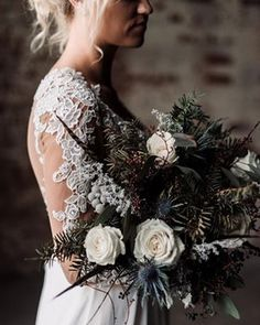 Wedding Bouquets Moody Winter Wedding Inspiration by Kelcy Leigh Photography - Planning a winter wedding? We've got gorgeous inspiration for a moody yet romantic urban wedding that would be perfect for the cold weather months. Wedding Ceremony Ideas, Winter Wedding Receptions, Winter Wedding Flowers, Flower Bouquet Wedding, Wedding Shoot, Floral Wedding, Dream Wedding, Wedding Dresses, Fall Wedding