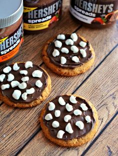 S'mores Oatmeal Cookies with Hershey's Chocolate Spreads #SpreadPossibilities