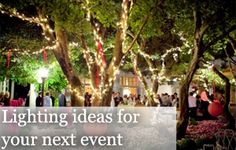 Party lighting ideas - Party Planner Sydney