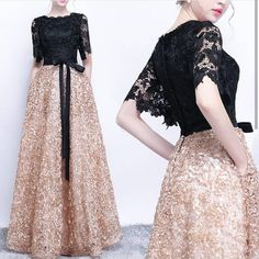 Costbuys Prom-Gowns Evening-Dresses Sleevesold Formal Black Longos Elegant You Lace Short Airing Evening Dress Dress Skirt, Lace Dress, Maxi Skirts, Hijab Fashion, Fashion Dresses, Stylish Dresses, Formal Dresses, Hijab Dress Party, Dress Brokat