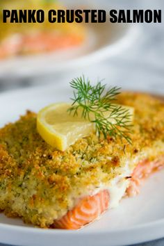 This panko crusted salmon recipe is for all my salmon loving peeps These salmon fillets are coated in a lemony garlic mayonnaise and baked with a crispy panko-parmesan crust simplyhomecooked salmon salmonrecipe pankocrustedsalmon salmondinner Panko Salmon Recipe, Cooked Salmon Recipes, Salmon Patties Recipe, Healthy Salmon Recipes, Cooking Salmon, Baked Salmon, Salmon Panko, Recipes For Salmon Fillets, Pisces