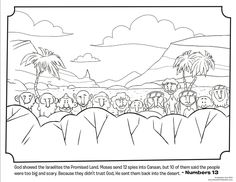 12 spies bible coloring pages