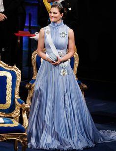 Kruununprinsessa Victoria Nobel-gaalassa