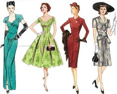 More vintage fashion glamour - they don't make dresses like this anymore!