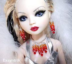 PASSION-Ooak Swarovski Fashion Jewelry for 16 inch Dolls