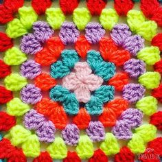Mermaid Pastel Sea Shells with Bobble Stitch Free Mandala Crochet Patterns, Easter Crochet Patterns, Crochet Designs, Crochet Crafts, Crochet Projects, Free Crochet, Bobble Stitch Crochet, Easy Crochet Stitches, Crochet African Flowers