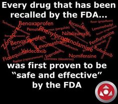 """GRAS"" a FDA acronym meaning 'Generally Recognized as Safe'.  'Safe' needs to be replaced with 'shit'"