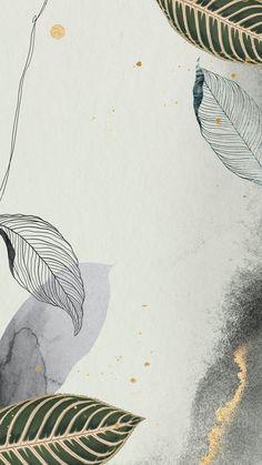 Leaves Wallpaper Iphone, Watercolor Wallpaper Iphone, Pastel Wallpaper, Cute Wallpaper Backgrounds, Aesthetic Iphone Wallpaper, Screen Wallpaper, Mobile Wallpaper, Cute Wallpapers, Aesthetic Wallpapers