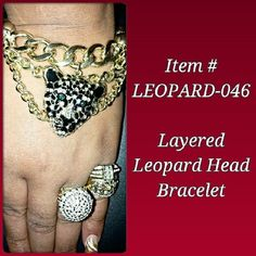 Layered Leopard Head Bracelet $10 Order by Email: IDRegalia.RoyalJewels@gmail.com