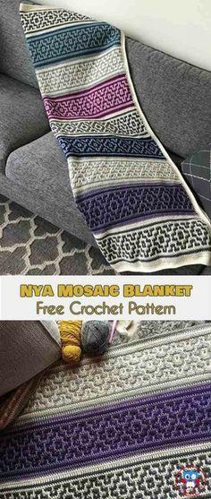 NYA Mosaic Blanket – Free Crochet Pattern | Your Crochet