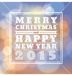 Merry christmas happy new year 2015 greeting card vector by kraphix on VectorStock®