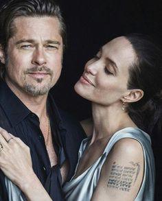 Angelina Jolie & Brad Pitt by Peter Lindbergh - 2015 Angelina Jolie Style, Brad Pitt And Angelina Jolie, Jolie Pitt, Oklahoma, Jennifer Aniston, Celebrity Couples, Celebrity Photos, Brad And Angie, Peter Lindbergh