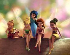 puzzel Tinker Bell met vrienden Klara, Emily, Silberhauch en Rosetta