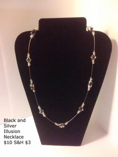 Black and Silver Illusion Necklace