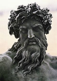 Zeus is the god of the sky, lightning, and the thunder in Ancient Greek religion and legends, and ruler of all the gods on Mount Olympus. Zeus is the sixth child of Kronos and Rhea, king and queen of the Titans. Statue Tattoo, War Tattoo, Greek Gods And Goddesses, Greek And Roman Mythology, Michelangelo, Zeus Statue, Greek Statues, Art Antique, Art Sculpture