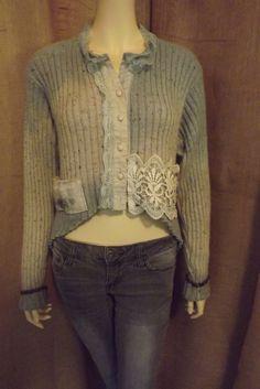 Lagenlook Upcycled Sweater Jacket