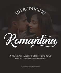 Romantina is Font Calligraphy Script, designed in modern style so that this font is beautiful and nice to see. very good to use fo