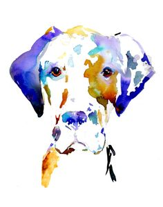Print of Watercolor Painting Hank the Great by ArtbyJessBuhman, $25.00 Great Dane Puppy Art #custompet #pet art