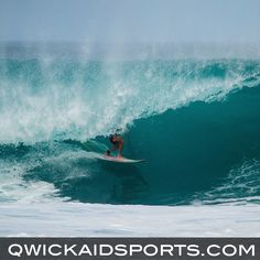 BARELY ESCAPE THE FURY.  Qwick-AID STOPS BLEEDING IN SECONDS!  www.qwickaidsports.com  #surf #surfing #beach #adrenaline #surfboard