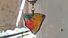 sea glass rainbow textured pendant, window suncatcher, car mobile, gift for her, greek shop, egst
