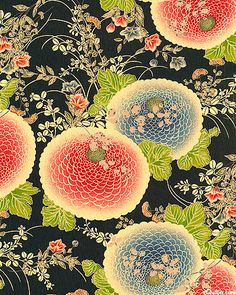 Japanese chrysanthemum textile.