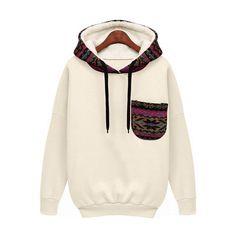 Hooded Pocket White Sweatshirt (145 NOK) ❤ liked on Polyvore featuring tops, hoodies, sweatshirts, jackets, sweatshirt, white, white pullover hoodie, cotton hooded sweatshirt, white cotton hoodie and hoodie sweatshirts