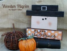 Wooden Pilgrim made with 2x4's by Giggles Galore