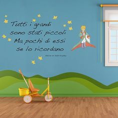 Picture of il Piccolo Principe Little Prince Party, The Little Prince, Big Wall Stickers, Kids Room Murals, Kids Line, Belly Painting, Life Rules, Tumblr Quotes, Homemaking
