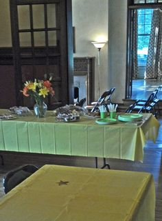 Elliott House dining room as set up for a club luncheon meeting.