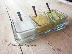 3 Sosuri pentru salate Tzatziki, Greek Recipes, Pesto, Mousse, Avocado, Food And Drink, Ice Cream, Yummy Food, Cookies