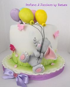 An elephant baby for Silvia by Barbara Mazzotta - - baby kuchen - Cake Design Gateau Baby Shower, Baby Shower Cupcakes, Shower Cakes, Cupcakes Kids, Baby Girl Cakes, Baby Birthday Cakes, Birthday Ideas, Girl Birthday, Fancy Cakes