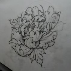 neo traditional flower tattoo designs