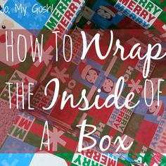 How to Wrap the Inside of a Box! (A super easy, mess-free tutorial for decorating care packages and gifts!) | Jo, My Gosh!