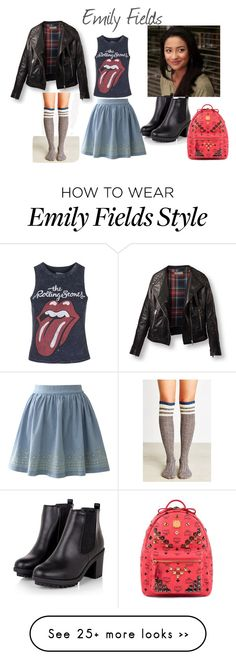 """""""Emily Fields Fashion"""" by isacollection on Polyvore featuring Chicwish, Topshop, MCM, emily and pll"""
