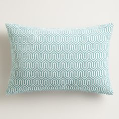 A stunning geo design in a cool hue gives our exclusive throw pillow plenty of chic style. With a textured chenille front, this unique, affordable accent adds tons of comfort while dressing up your sofa or daybed.