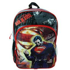 2d5d10b7d1 Superman Man Of Steel Gray Black Backpack  22.99 (ships free in the United  States