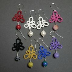 Check out this item in my Etsy shop https://www.etsy.com/se-en/listing/268220795/tatted-earings-with-semi-precious-stone