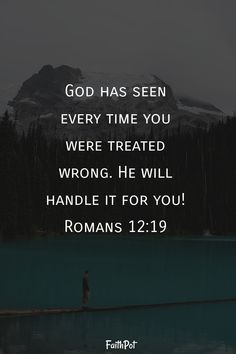 God will handle it for you - Bible Verses - Romans - Scripture Verses, Bible Verses Quotes, Bible Scriptures, Faith Quotes, Wisdom Quotes, Trust Quotes, Quotes Quotes, Faith Prayer, God Prayer