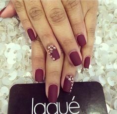 Matte colour on nails