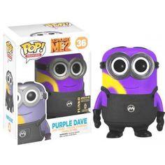 Funko Purple Dave, SDCC Exclusive, Despicable Me 2, Meu Malvado Favorito, Minions, Cartoon, Funkomania