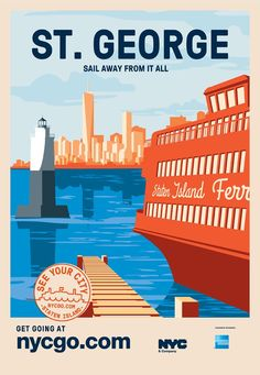 New York City Boroughs Promoted Via Retro-style Posters | StockLogos.com