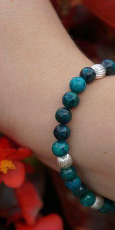 Green malachite stretch bracelet, available on Etsy! :-) $19.00 https://www.etsy.com/listing/200670166/malachite-green-beaded-stretch-bracelet