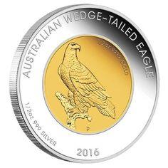Pure gold & silver Wedge-tailed Eagle, Australia