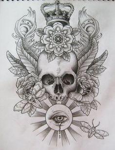 skull and roses drawings - Pesquisa Google