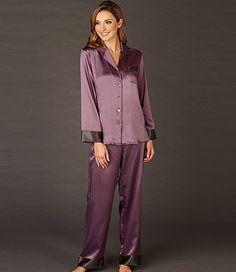 Pijama de seda Tanzanite Lounge en inSilk