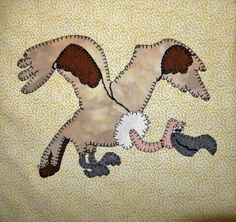 Vulture or condor PDF applique pattern; African or safari animal quilt pattern…